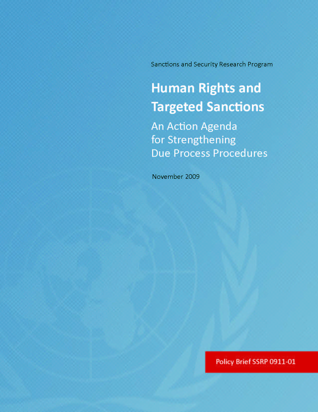 Human Rights and Targeted Sanctions: An Action Agenda for Strengthening Due Process Procedures